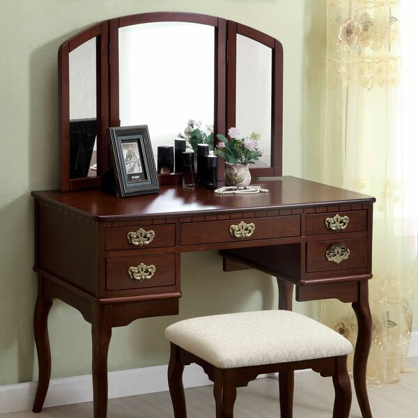 Drake Vanity Set with Mirror by Canora Grey