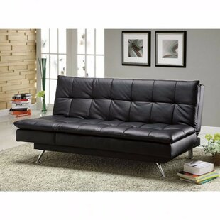 Monti Hasty Leatherette Convertible Sofa Orren Ellis