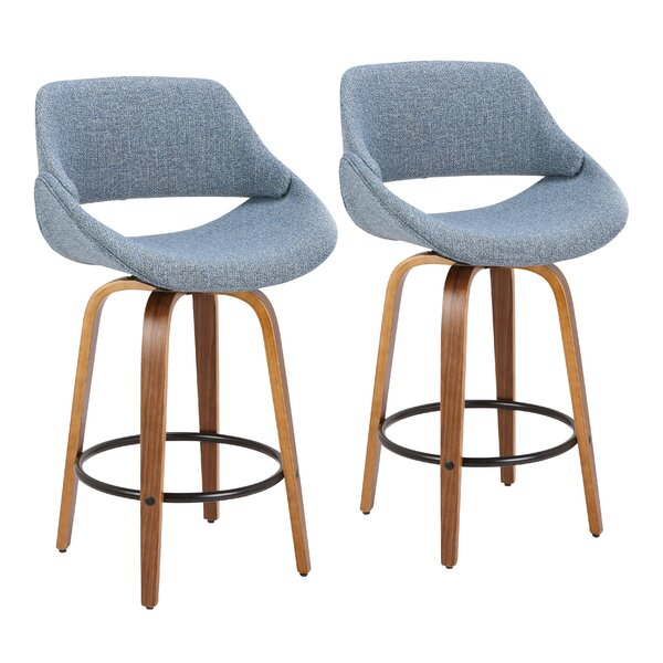 Aird 26 Swivel Bar Stool (Set of 2) by Langley Street
