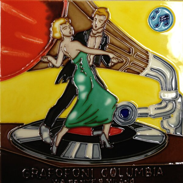 Dancing Record Tile Wall Decor by Continental Art Center