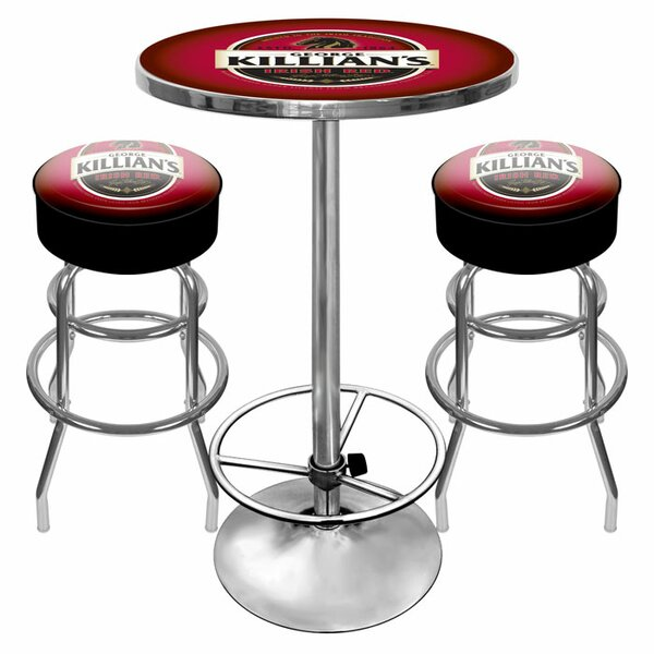 Killians Beer Game Room 3 Piece Pub Table Set by Trademark Global