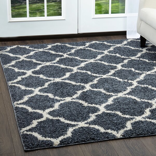 Synergy Blue/White Area Rug by Nicole Miller