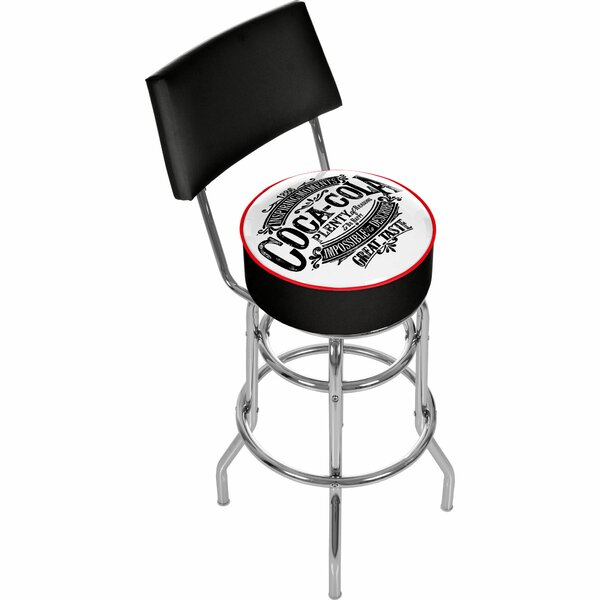 Coca Cola Brazil 31 Swivel Bar Stool by Trademark Global