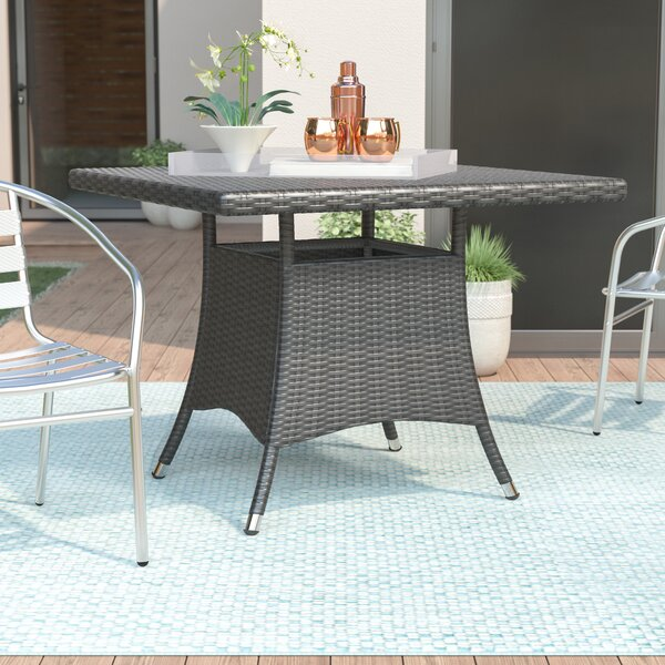Brissette Wicker/Rattan Bistro Table by Orren Ellis