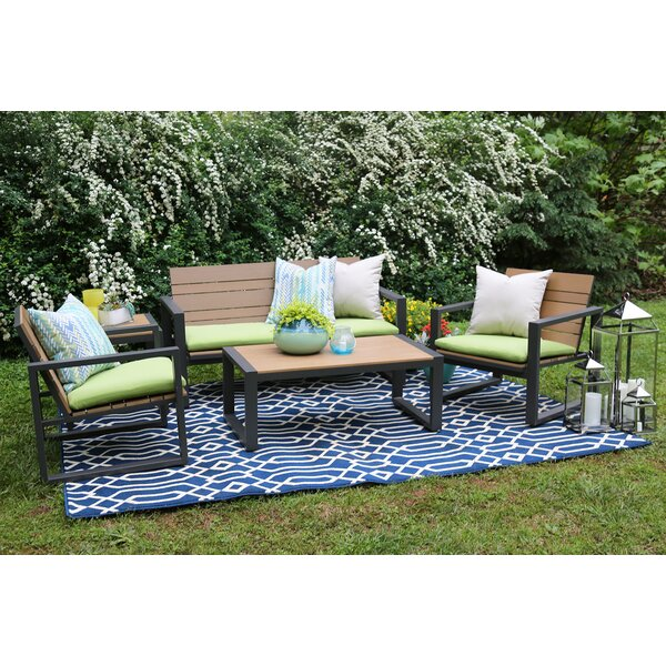 Connelly 5 Piece Sunbrella Sofa Set with Cushions by AE Outdoor