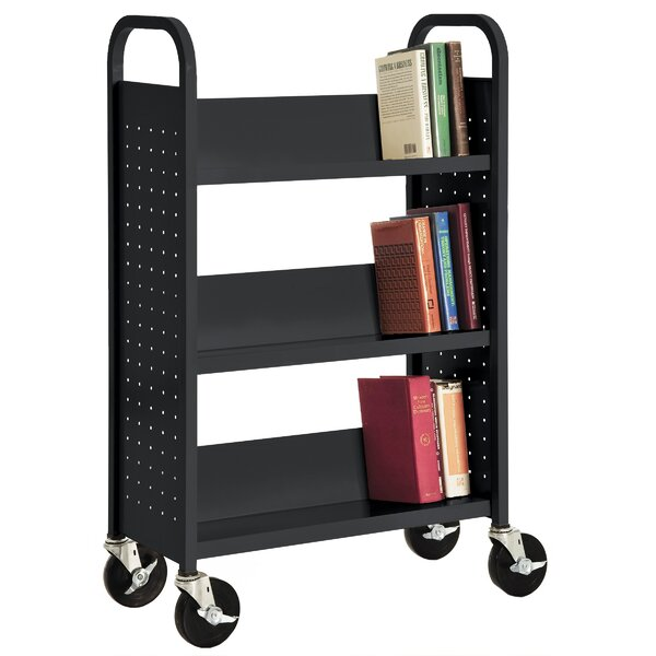 Sloped-Shelf Book Cart by Sandusky Cabinets