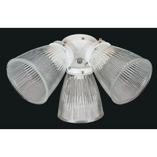 Online Reviews 3-Light Branched Ceiling Fan Light Kit By Concord Fans