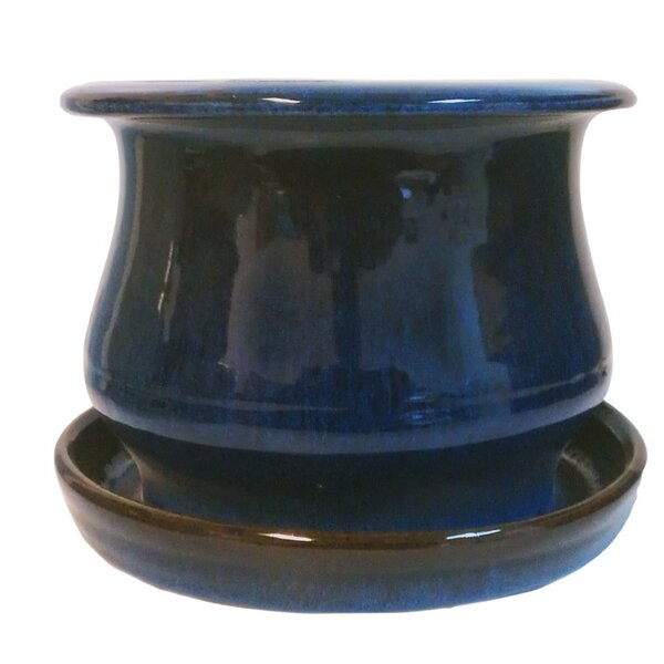Newell Low Bell Glazed Ceramic Pot Planter (Set of 4) by World Menagerie