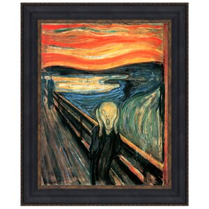 The Scream, 1893, by Edvard Munch Framed Painting Print by Design Toscano