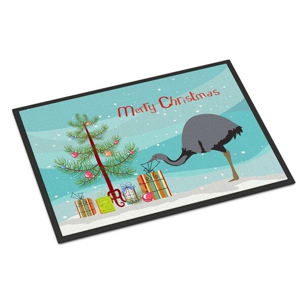 Aisha Rhea Christmas Non-Slip Outdoor Door Mat