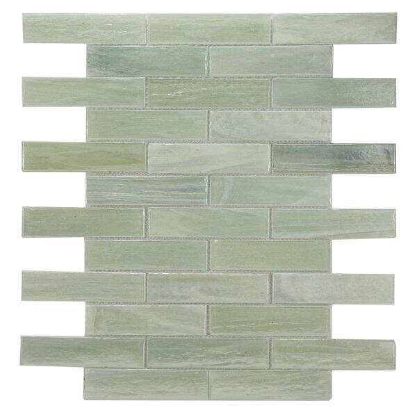 Laguna Glass Mosaic Tile in Light Green by Byzantin Mosaic