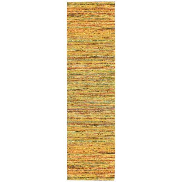 Sari Silk Handmade Yellow Area Rug by St. Croix