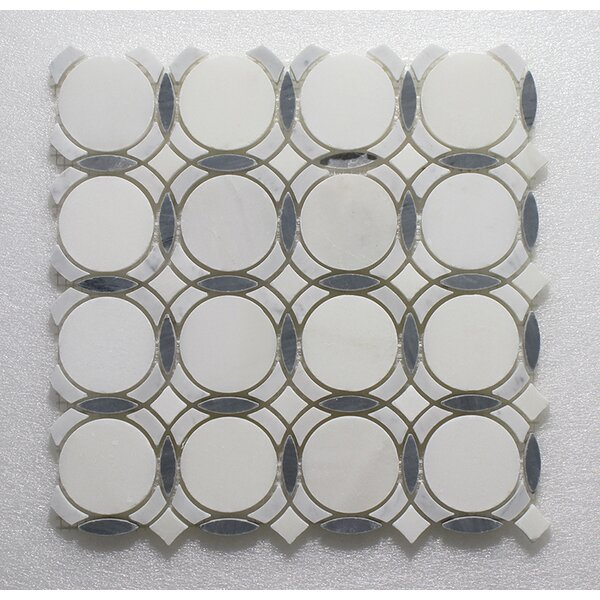 Carrara Infinity Pure Wall 12 x 12 Natural Stone Mosaic Tile in White/Bardiglio by Seven Seas