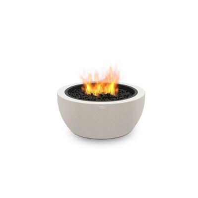 "EcoSmart Fire Pod Freestanding Stainless Steel Propane/Natural Gas Fire pit  Finish: Bone, Size: 13.8"" H x 30"" W x 30"" D"