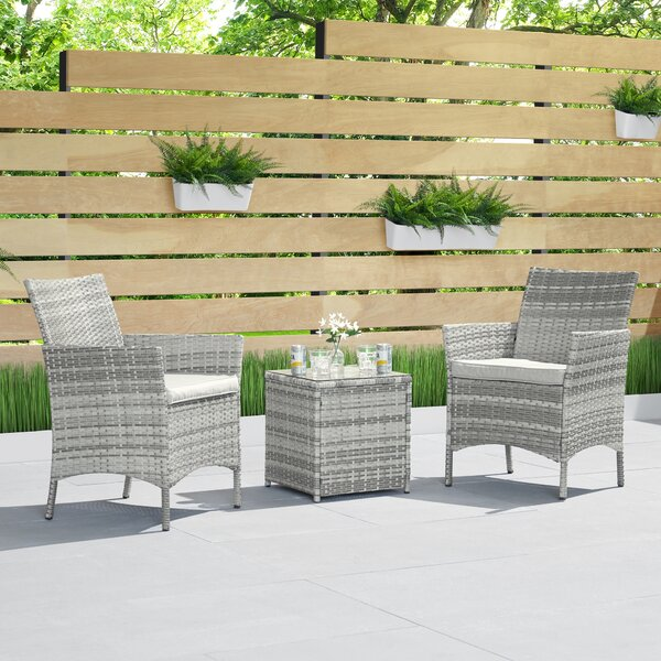 Torrington 3 Piece Seating Group with Cushions by Wrought Studio