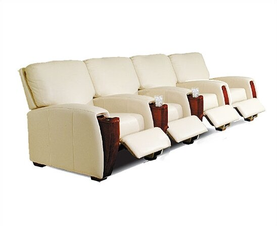 Home Leather Home Theater Row Seating (Row Of 4) By Bass