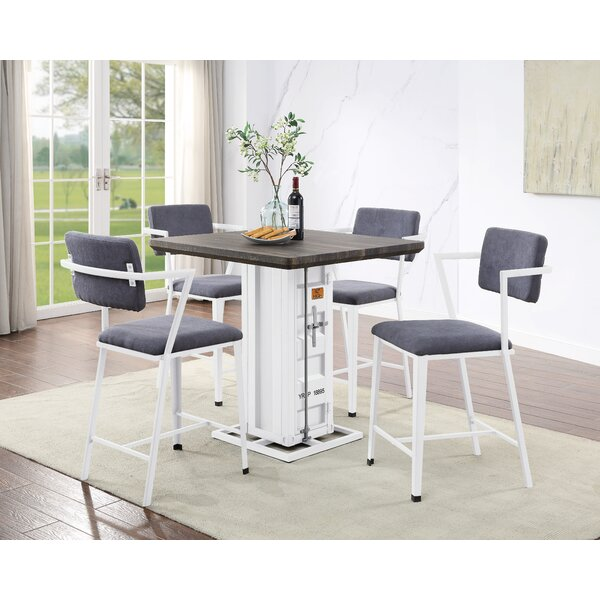 Medau 5 Piece Dining Set by Breakwater Bay Breakwater Bay