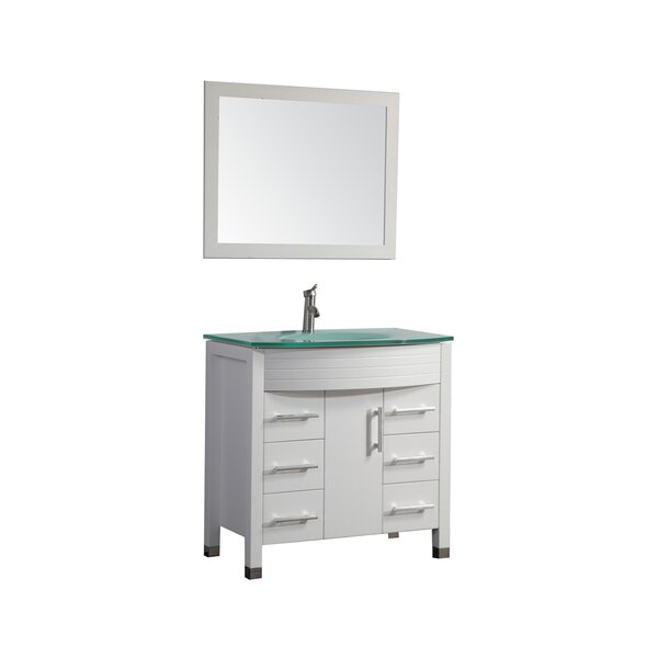 Prall Modern 48 Single Sink Bathroom Vanity Set with Mirror by Orren Ellis