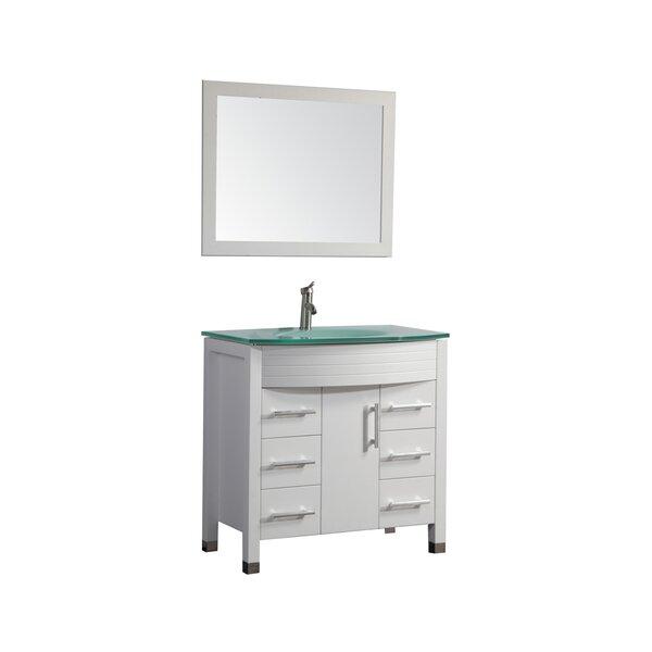 Prall Modern 48 Single Sink Bathroom Vanity Set with Mirror by Orren Ellis