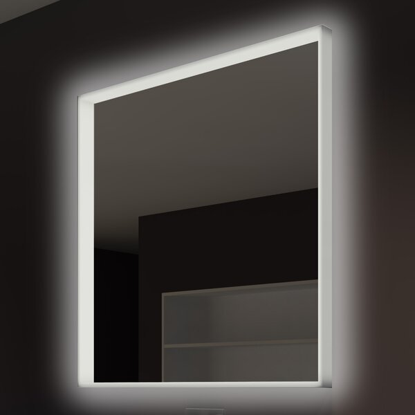 Acrylic Illuminated Bathroom / Vanity Wall Mirror by Paris Mirror
