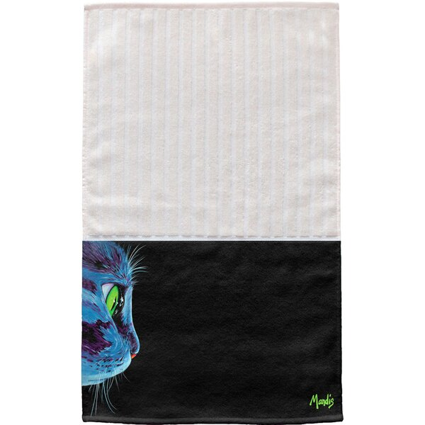 Green-Eyed Cat Multi Face Hand Towel (Set of 2) by East Urban Home