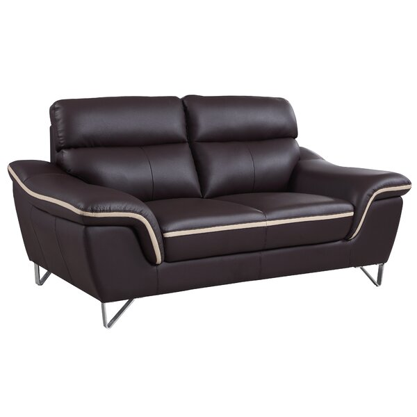 Best Reviews Matheny Luxury Upholstered Living Room Loveseat by Orren Ellis by Orren Ellis