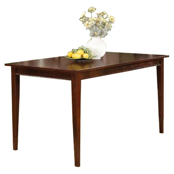 Boulder Creek Wood Solid Wood Dining Table by Alcott Hill