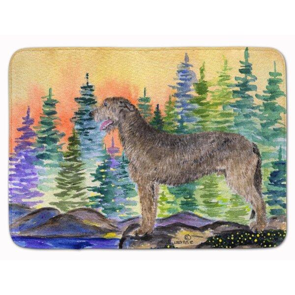 Newburyport Irish Wolfhound Rectangle Microfiber Non-Slip Bath Rug