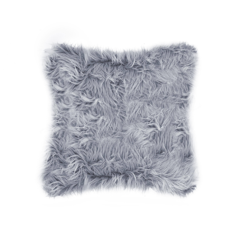 Willa Arlo Interiors Gaetane Faux Fur Throw Pillow Reviews Wayfair