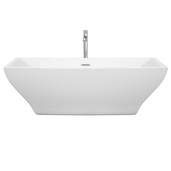 Maryam 70.75 x 31.25 Soaking Bathtub by Wyndham Collection
