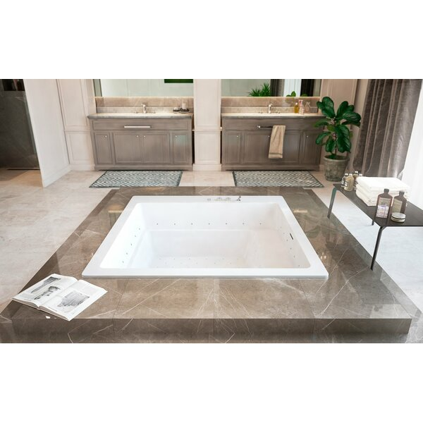 Lacus 70 x 70 Air / Whirlpool Bathtub by Aquatica