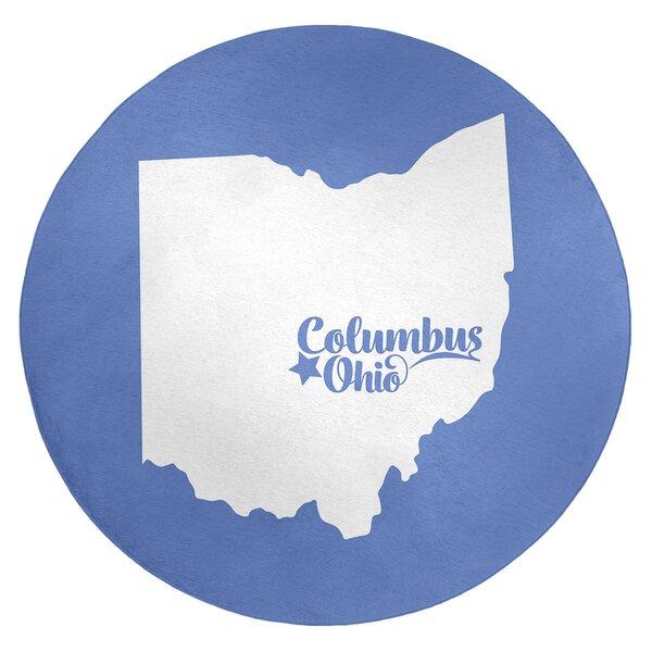 Columbus Ohio Poly Chenille Rug