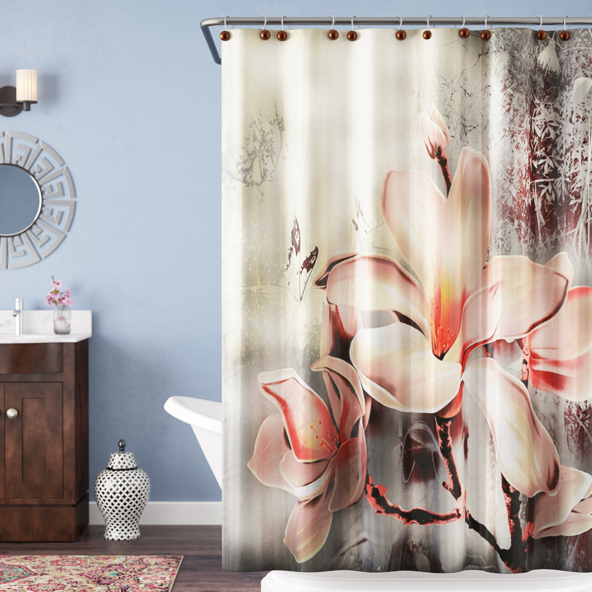 Bloomsbury Market Caledonia Fancy Lily Shower Curtain Reviews