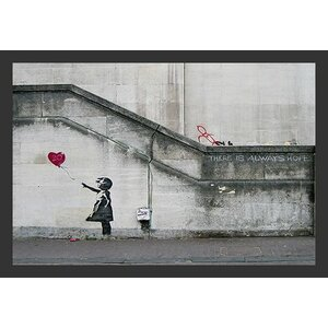 'There Is Always Hope Balloon Girl' by Banksy Framed Graphic Art by Buy Art For Less