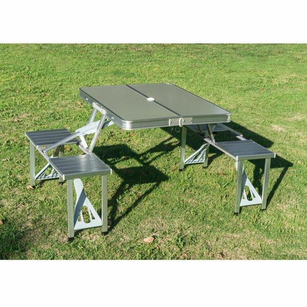 Corringham Folding Steel Picnic Table By Freeport Park