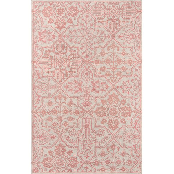 Worreno Hand-Tufted Wool Indoor Pink Area Rug by Bungalow Rose