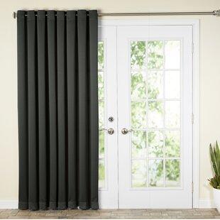 Wayfair Basics Solid Room Darkening Grommet Single Patio Curtain Panel