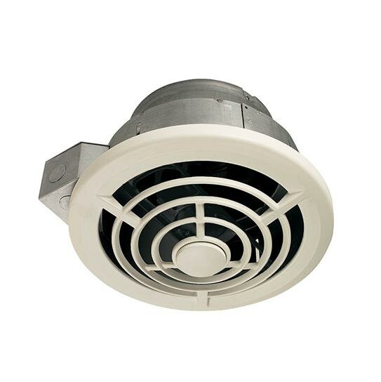 Broan 210 CFM Ceiling Mount Bathroom Fan with Vertical ...