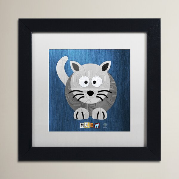 Traci Meow The Cat by Design Turnpike Framed Art by Zoomie Kids