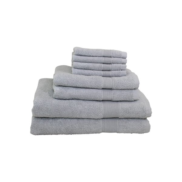 Luxury 8 Piece Cotton Towel Set by CB Station