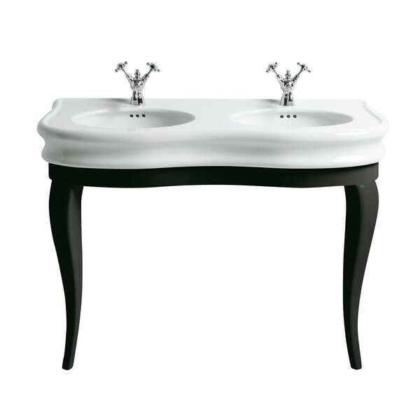 China Series Vitreous China 47 Console Bathroom Sink with Overflow by Whitehaus Collection