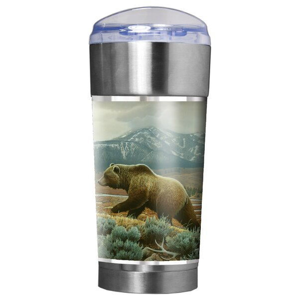 Grizzly Bear Traditions 24 oz. Stainless Steel Travel Tumbler by Great American Products