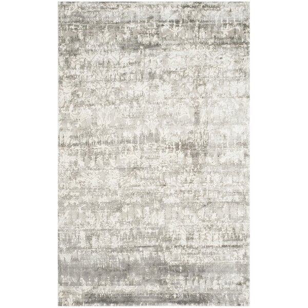 Lidiaídia Hand-Knotted Gray/Ivory Area Rug by 17 Stories