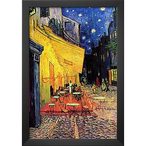 'Cafe Terrace at Night' by Vincent Van Gogh Framed Painting Print by Buy Art For Less