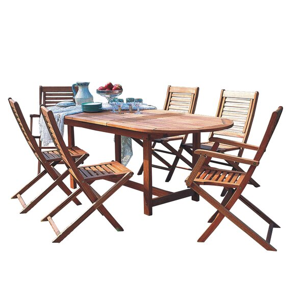 Mcqueary International Home Outdoor 9 Piece Dining Set by Highland Dunes