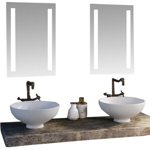 led lighted mirror - Bathroom Sink And Mirror