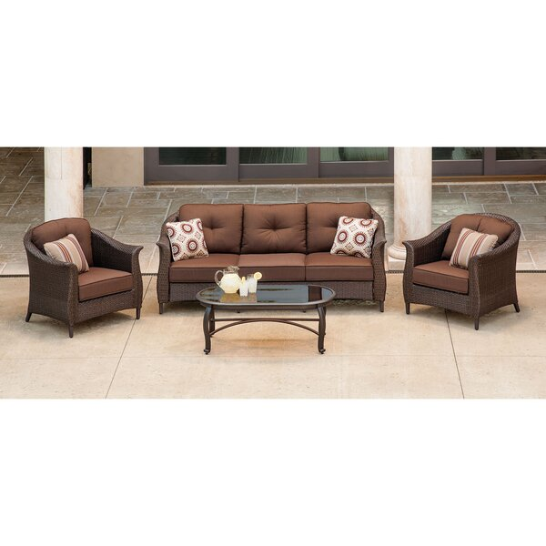Barrell 4 Piece Sunbrella Sofa Set with Cushions by Darby Home Co