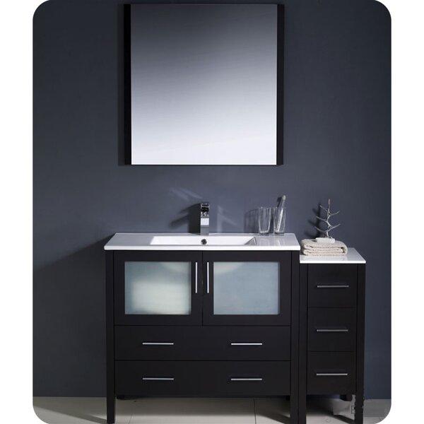 Torino 48 Single Bathroom Vanity Set with Mirror