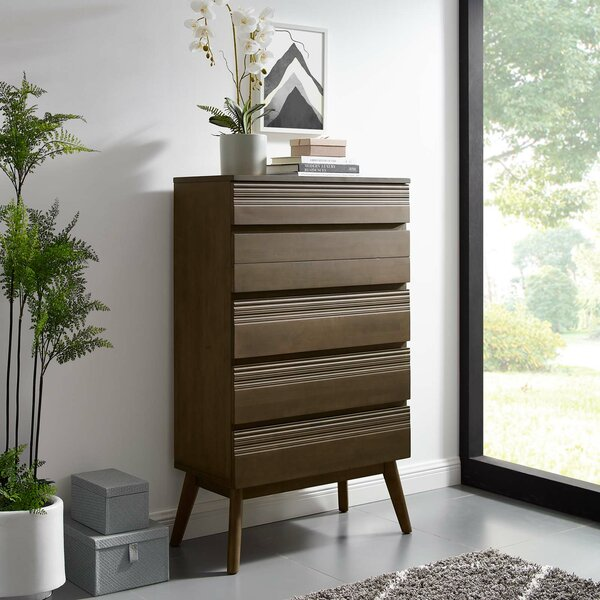 Burson Wood 5 Drawer Chest by George Oliver