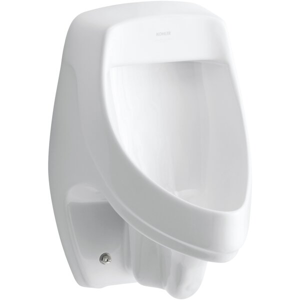 Dexter™ Siphon-Jet Wall-Mount 0.5 or 1.0 GPF Urinal with Rear Spud, Antimicrobial by Kohler